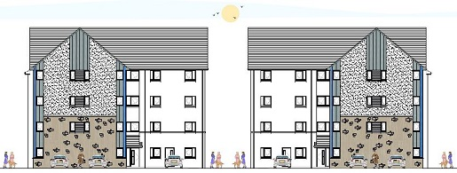 Architect's Impression of New Homes at Anderson St