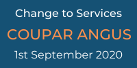change to services 1st September 2020