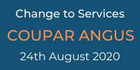 Change to Services COupar Angus