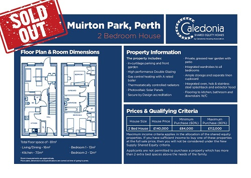 Muirton 2 bed shared equity sold out