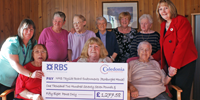 Roxburghe House Cheque Presentaion