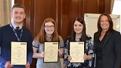 Modern Apprentices with their SVQ Certificates