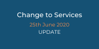 25th June 2020 Update